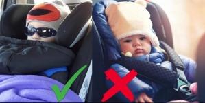 Nikad djecu nemojte stavljati u autosjedalicu u zimskoj jakni