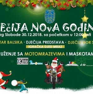 Proslava Dječije nove godine u nedjelju 30.12.2018. godine