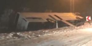 Prevrnuo se autobus kod Bijeljine, tri osobe povrijeđene