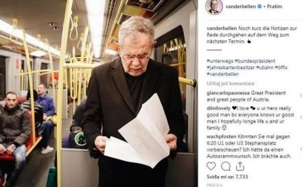 Pogledajte kako predsjednik Austrije putuje na posao