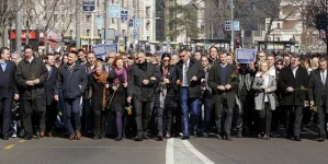 Polaganjem vijenaca obilježeno 16 godina od ubistva premijera Srbije Zorana Đinđića