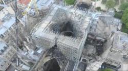 Prve snimke iz zraka katedrale Notre Damea dan nakon velikog požara