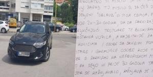 Vozač Forda u Tuzli nepropisno parkirao i dobio pismo ispod brisača: Kad si otišao iz Bosne za obećanu Njemačku…