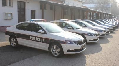 Uprava policije MUP-a TK-a bogatija za 15 novih vozila