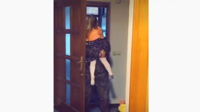Emotivni susret: Vojnik Oružanih snaga BiH vratio se iz Afganistana i iznenadio svoju kćerku