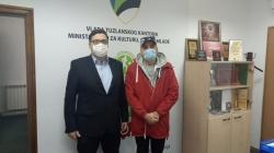 Posjeta reditelja Dine Mustafića sa saradnicima Ministarstvu za kulturu, sport i mlade TK