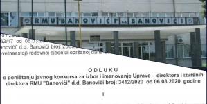 RMU Banovići: Poništen konkurs za izbor i imenovanje Uprave – direktora i izvršnih direktora