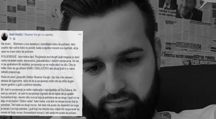 """Amir Hadžić prevaren u humanitarnom lajvu u kojem je skupljeno preko 5000 eura donacija za """"izmišljeni rak""""!"""