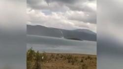 Nesvakidašnji prizor: Pogledajte pijavicu nad poznatim jezerom kod Bileće