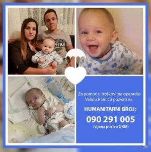 Apel za pomoć operacije srca djecaka iz Tuzle