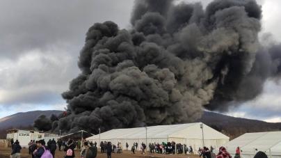 Veliki požar u migrantskom kampu Lipa kod Bihaća