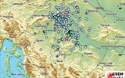 Snažan zemljotres jačine 5,3 stepeni pogodio Hrvatsku, epicentar ponovo kod Petrinje