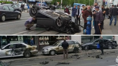 HAOS U ZAGREBAČKOJ DUBRAVI: Jurio Avenijom pa udario u parkirane automobile ispred trgovačkog centra i prevrnuo se na krov