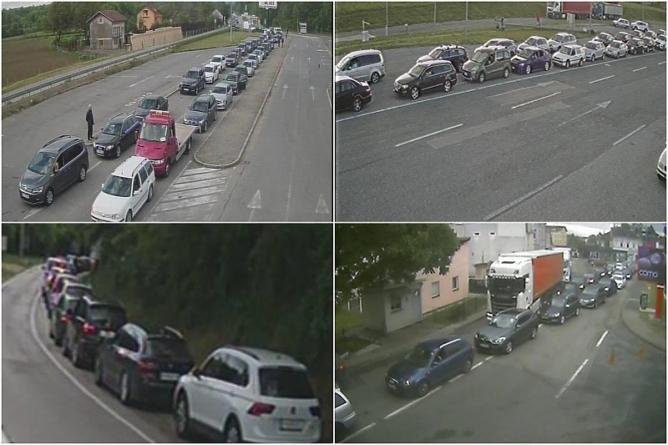 Dijaspora se vraća iz domovine, na izlazu iz BiH već formirane duge kolone