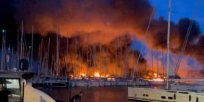 Detalji požara u marini na Jadranu