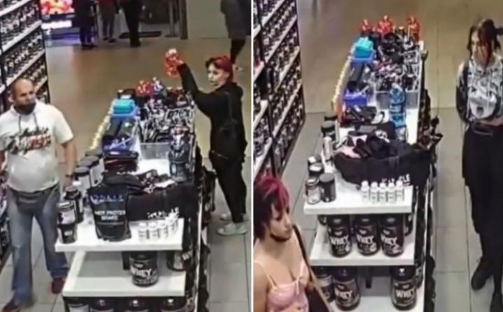 Uigrani tandem lopova operiše u Sarajevu: Pogledajte kako u dva navrata kradu u prodavnici suplemenata